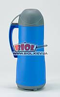Термос 0,5л пластиковый со стеклянной колбой (цвет - синий) Stenson DB105SX-2
