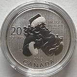 20 долларов 2013 Канада - Санта Клаус. Серебро. UNC, фото 3