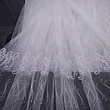 Красивая тюль с вышивкой на фатиновой основе. Оптом и на метраж .Высота 2.8 м., фото 4