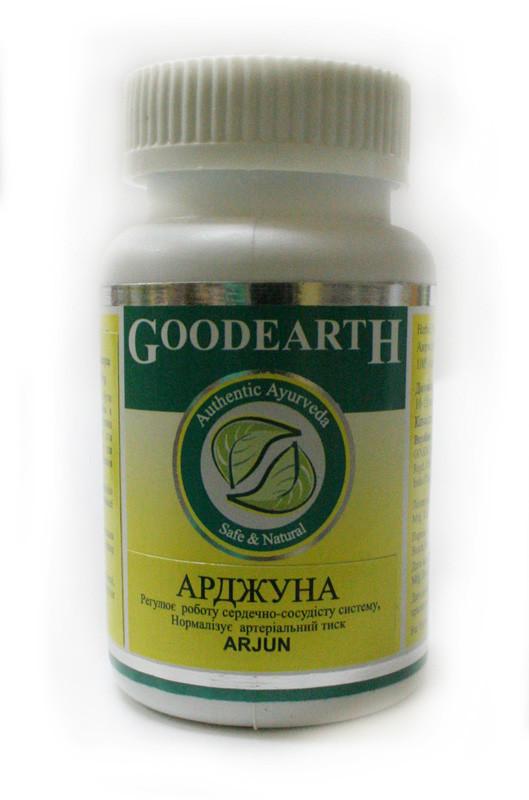 Арджуна, Arjun, 60 капc. - улучшение сердечного кровообращения, при стенокардии, гипертонии, атеросклерозе