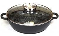 Жаровня с прочным греблоновым покрытием и крышкой с дозатором, Oscar Cooks OC30 28cm., фото 1