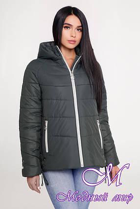 Женская демисезонная куртка с капюшоном (р. 44-58) арт. 1099 Тон 70, фото 2