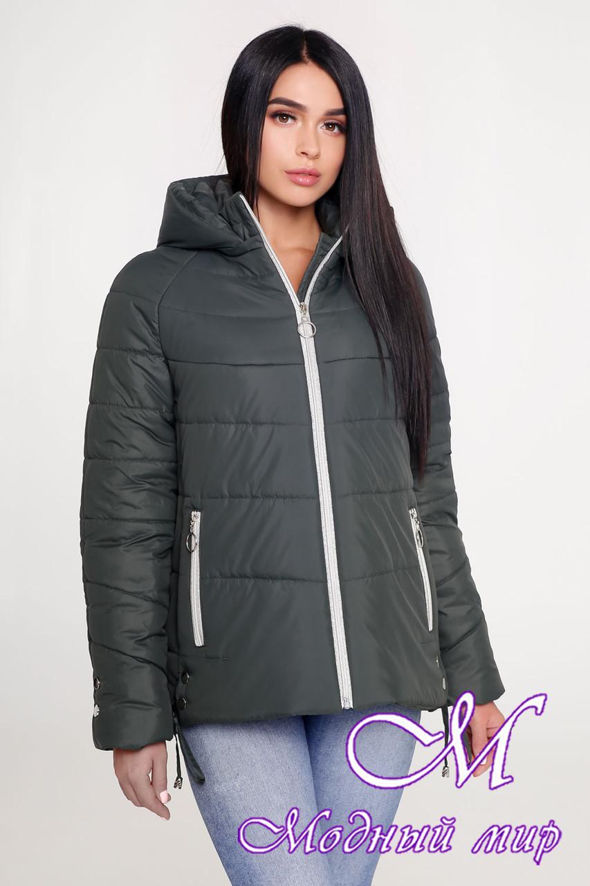 Женская демисезонная куртка с капюшоном (р. 44-58) арт. 1099 Тон 70