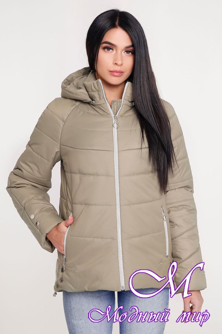 Женская демисезонная куртка оливкового цвета (р. 44-58) арт. 1099 Тон 59