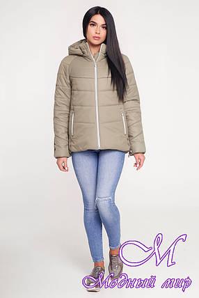 Женская демисезонная куртка оливкового цвета (р. 44-58) арт. 1099 Тон 59, фото 2
