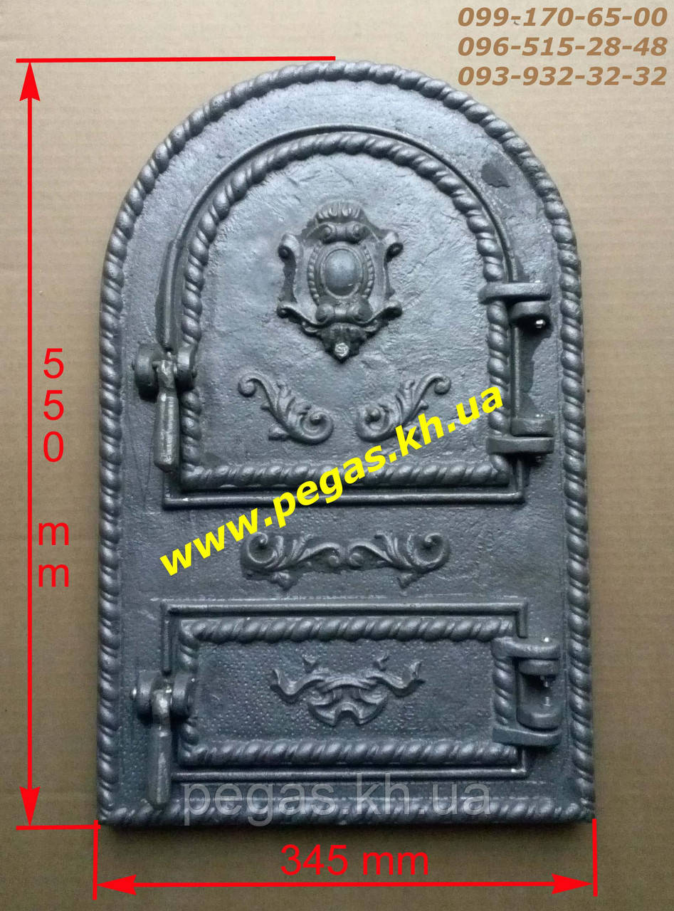 Дверка чугунная (Румынская №5) барбекю, грубу, печи, мангал