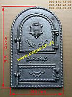 Дверка чугунная (Румынская №5) барбекю, грубу, печи, мангал, фото 1