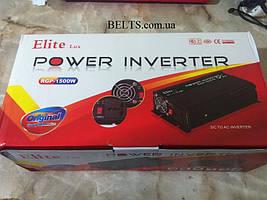 Автомобильный инвертор 1500 W Power Inverter ELITE lux 12/220v, преобразователь напряжения Павер Инвертер Елит