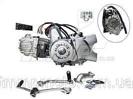 Двигатель 110куб в сборе Актив / Дельта-110см3 52,4мм  АЛЬФА ЛЮКС полуавтомат