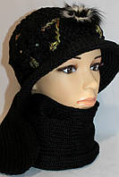 Шапки и шарфы женские в комплектах