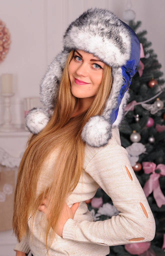 Меховая шапка для девушек