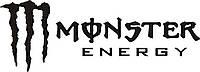 Наклейка - Monster Energy на капот -  Черная