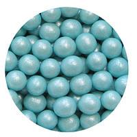 """Посыпка """"Жемчужные шарики (голубые) 7 мм."""", 50 гр."""