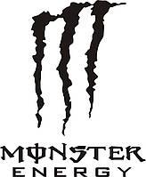Наклейка Monster Energy - 21 х 17 см черная