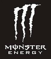 Наклейка Monster Energy - 21 х 17 см белая