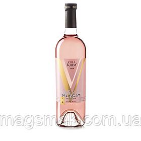 Вино розовое полусладкое Villa Krim Muscat Riviera 0.75л