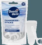 Зубочистки - флостик с зубной нитью DONTODENT Zahnseide-Sticks, 32 St