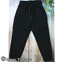 Детские чёрные спортивные штаны (Трёхнить+ Байка) Размеры: 92,98,104,110,116 см (UA22017-3)