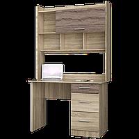Стол письменный Школьник-4 + надстройка сонома + трюфель Эверест (110х55х188 см)