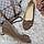 Туфли женские весна-осень на средней танкетке натуральная замша бежевые 37, фото 4
