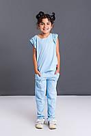 Детский костюмчик (футболка и брюки) из вискозы
