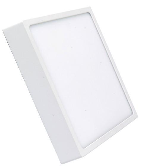Светодиодный светильник накладной 18W 4000K квадратный белый Код.59349