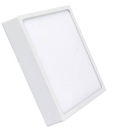 Светодиодный светильник накладной 18W 4000K квадратный белый Код.59349, фото 2