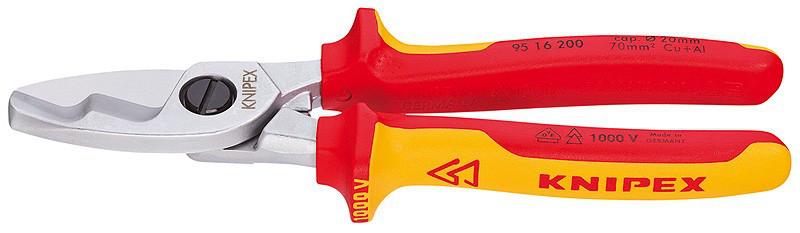 Ножницы Knipex 95 16 200 для резки кабелей 200 mm Wurth