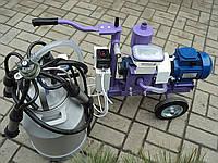 Доильный аппарат для коров УИД-10 (сухой вакуумный насос) с графитовыми лопатками