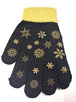 Перчатки детские, деми, вязаные, резиновый принт , TOBY&ME