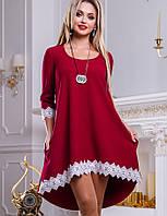 Женское платье расклешенное к низу с кружевом (2471-2468-2469-2470 svt)