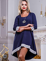 Женское платье расклешенное к низу с кружевом (2471-2468-2469-2470 svt), фото 2
