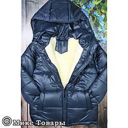 Куртка синего цвета на овчине для мальчика Размеры: 122-128-134-140-146см (UA22020-3)