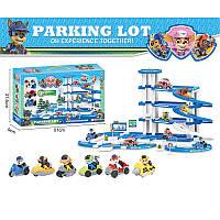 """Паркинг детский с героями """"Щенячий Патруль"""" 3 этажа, (2 героя,2 машинки) в коробке"""