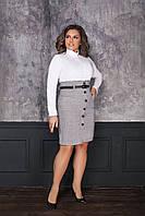 Женское модное офисное платье  ИК7041-1 (бат)
