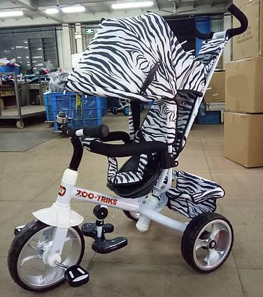 Детский трехколесный велосипед TILLY ZOO-TRIKE T-342 WHITE
