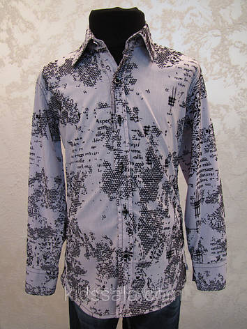 Рубашка для мальчиков 110,116,122,128 роста с бархатным принтом, фото 2