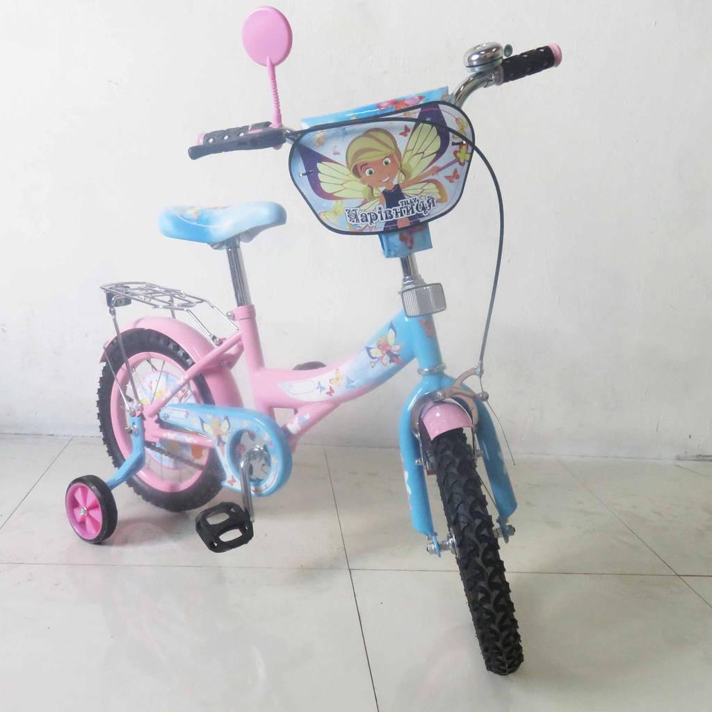 Детский Велосипед TILLY Чарівниця 14 T-21426 pink + blue