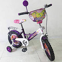 Детский Велосипед TILLY Флора 14 T-21427 purple + white