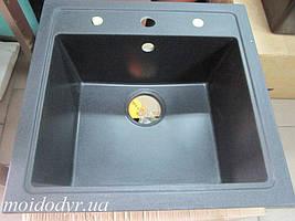 Мойка кухонная гранитная врезная Evistone Modena D-100 HB nero