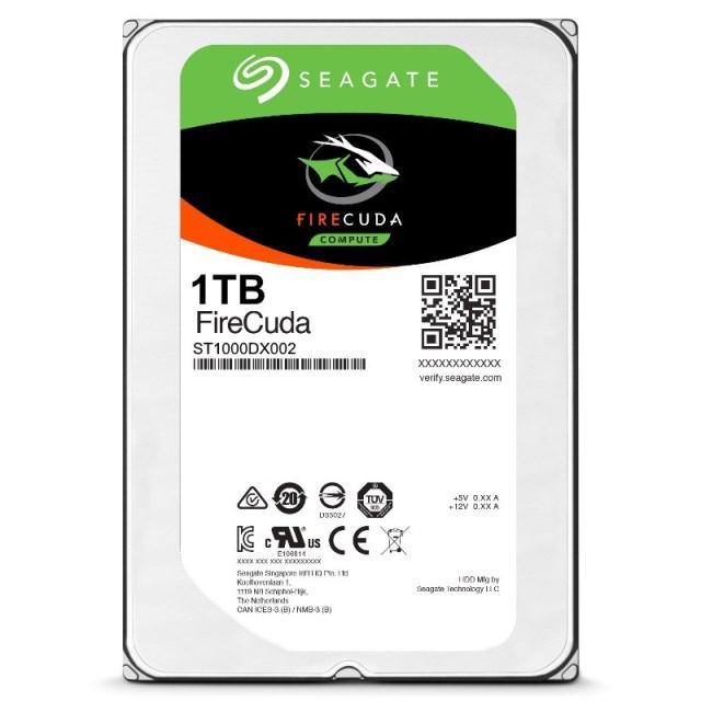 "Жесткий диск (SSHD) 3.5"" 1TB Seagate FireCuda SSHD + 8Gb NAND Flash Memory MLC (ST1000DX002) (7200RPM/64M/SATA III)"