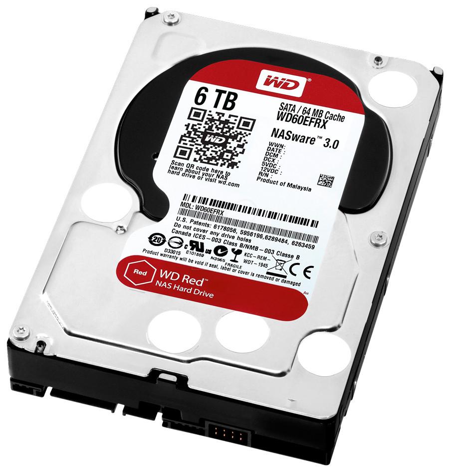 """Жесткий диск (HDD) 3.5"""" 6TB Western Digital (WD60EFRX) (5400RPM/64M/SATA III)"""
