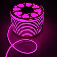 Светодиодный неон Biom SMD2835, розовый 120шт/м, 8W/m, IP65, 220V