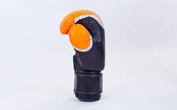 Боксерские перчатки кожаные на липучке BAD BOY (10OZ) MA-5433-BK2, фото 2