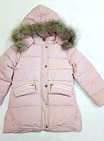 Красивая детская деми куртка на девочку  р. 5-8 лет пудра