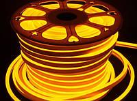 Светодиодный неон Biom SMD2835, золотой 120шт/м, 8W/m, IP65, 220V, фото 1