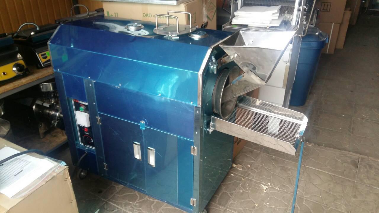 Печь барабанного типа ростер для обжарки кофе, орехов, семечек  Vector HJ-25DS
