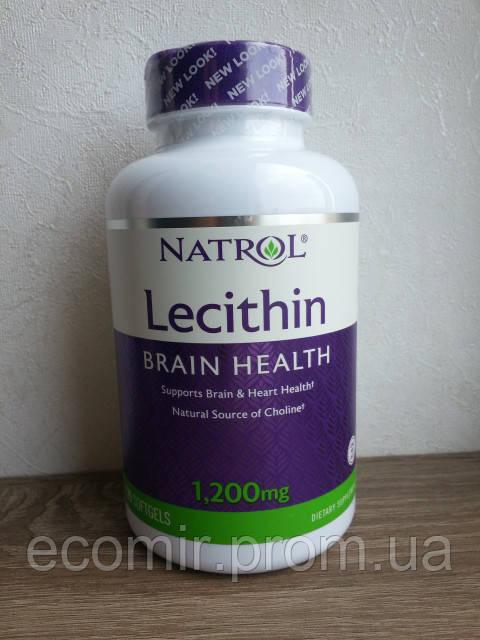 Соевый лецитин, Natrol (1200 мг / 120 капсул)