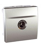 Розетка телевизионная оконечная, штырьковый разъем, 2 модуля, алюминий, MGU3.464.30
