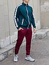Спортивные штаны мужские бордовые с лампасами бренд ТУР модель Рокки(Rocky) размер XS, S, M, L, фото 5